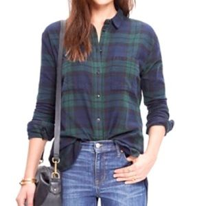 🆕 Madewell Oversize Flannel Button Up Shirt, S